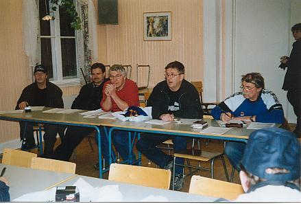 """Den alldeles """"nybakade"""" styrelsen: Kjell, Stig, Tommy, Janne & Erling"""
